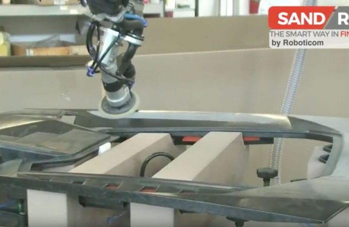 SandRob robotic surface finishing